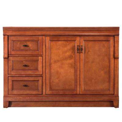 Naples 48 in. W Bath Vanity Cabinet Only in Warm Cinnamon with Left Hand Drawers