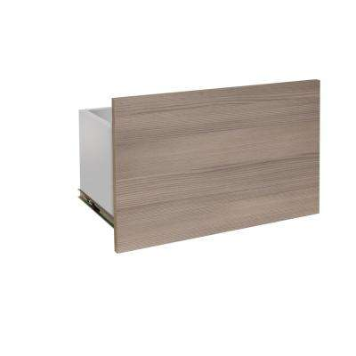 24 in. x 15 in. Closet Drawer with Soft Close Drawer Glides in Textured Platinum