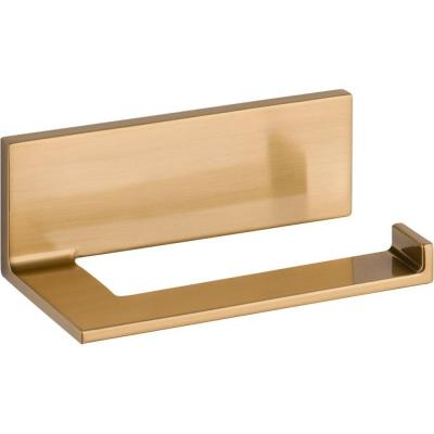 Vero Single Post Toilet Paper Holder in Champagne Bronze