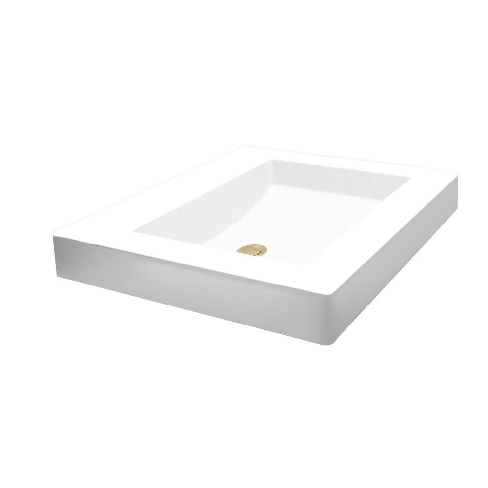 Swan Palladio Vessel Sink in White