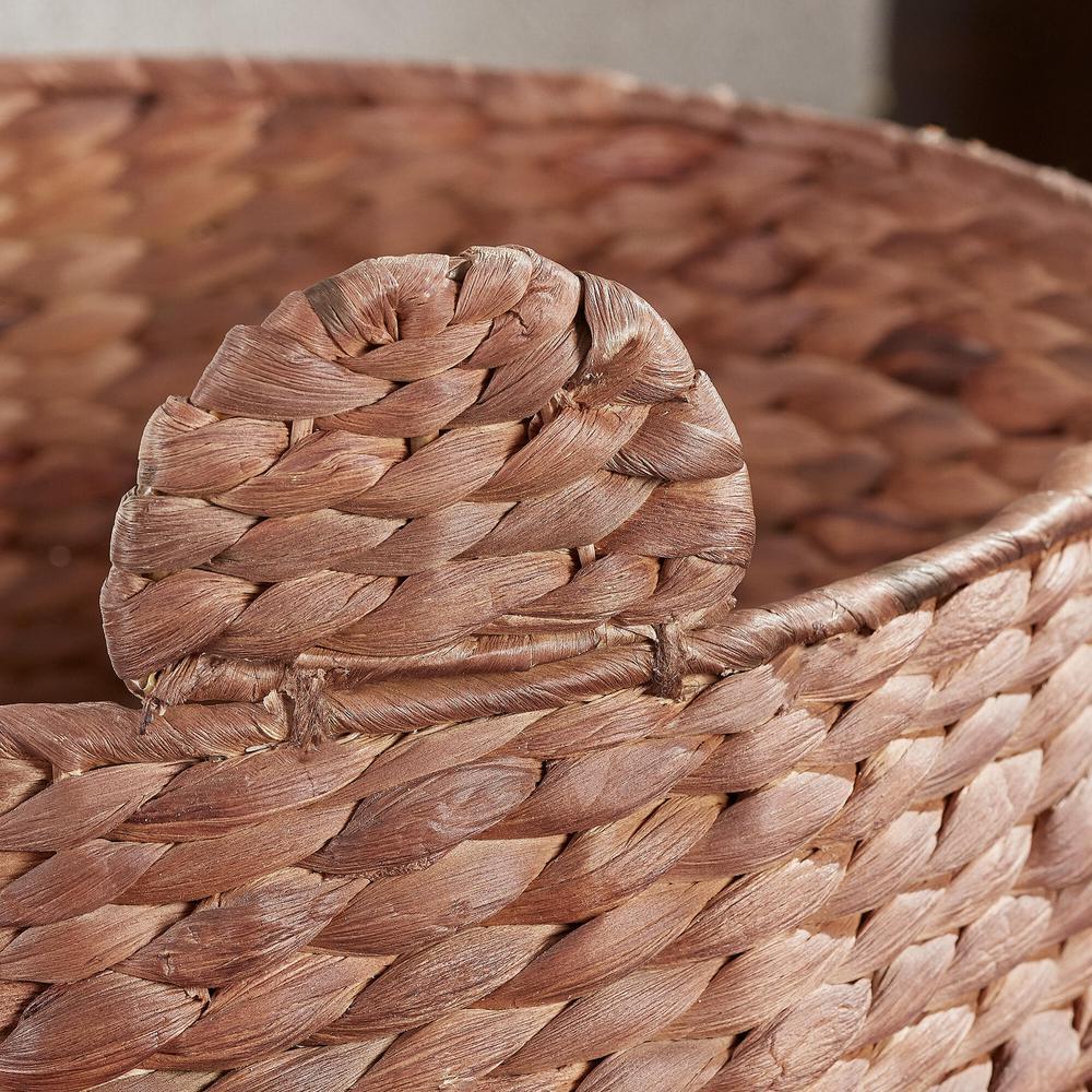 StyleWell Brown Teddy Bear Water Hyacinth Woven Decorative Basket