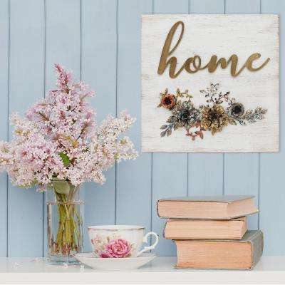 """""""Home"""" Decorative Sign Cottage Wall Decor"""