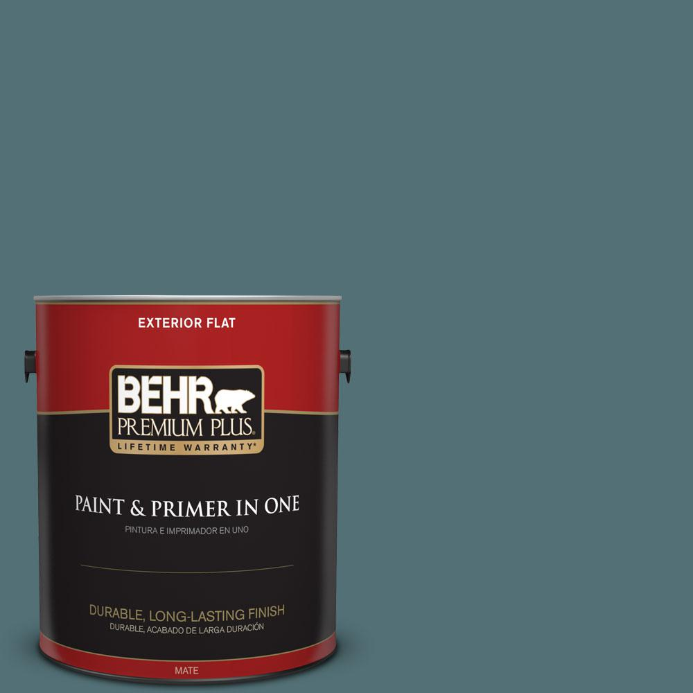 Home Decorators Collection 1-gal. #HDC-CL-22 Sophisticated Teal Flat Exterior Paint
