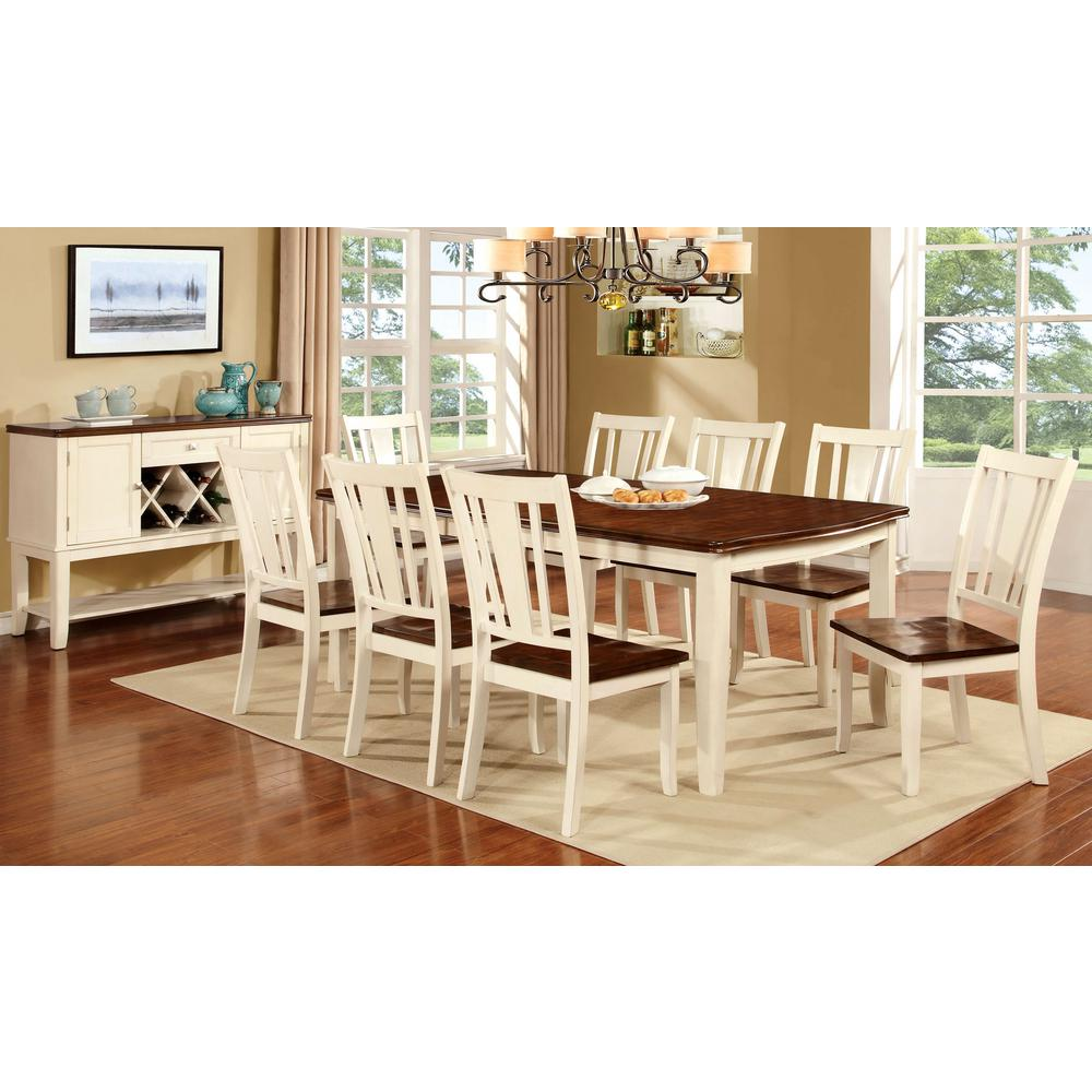 Williams Home Furnishing Dover Vintage White And Cherry