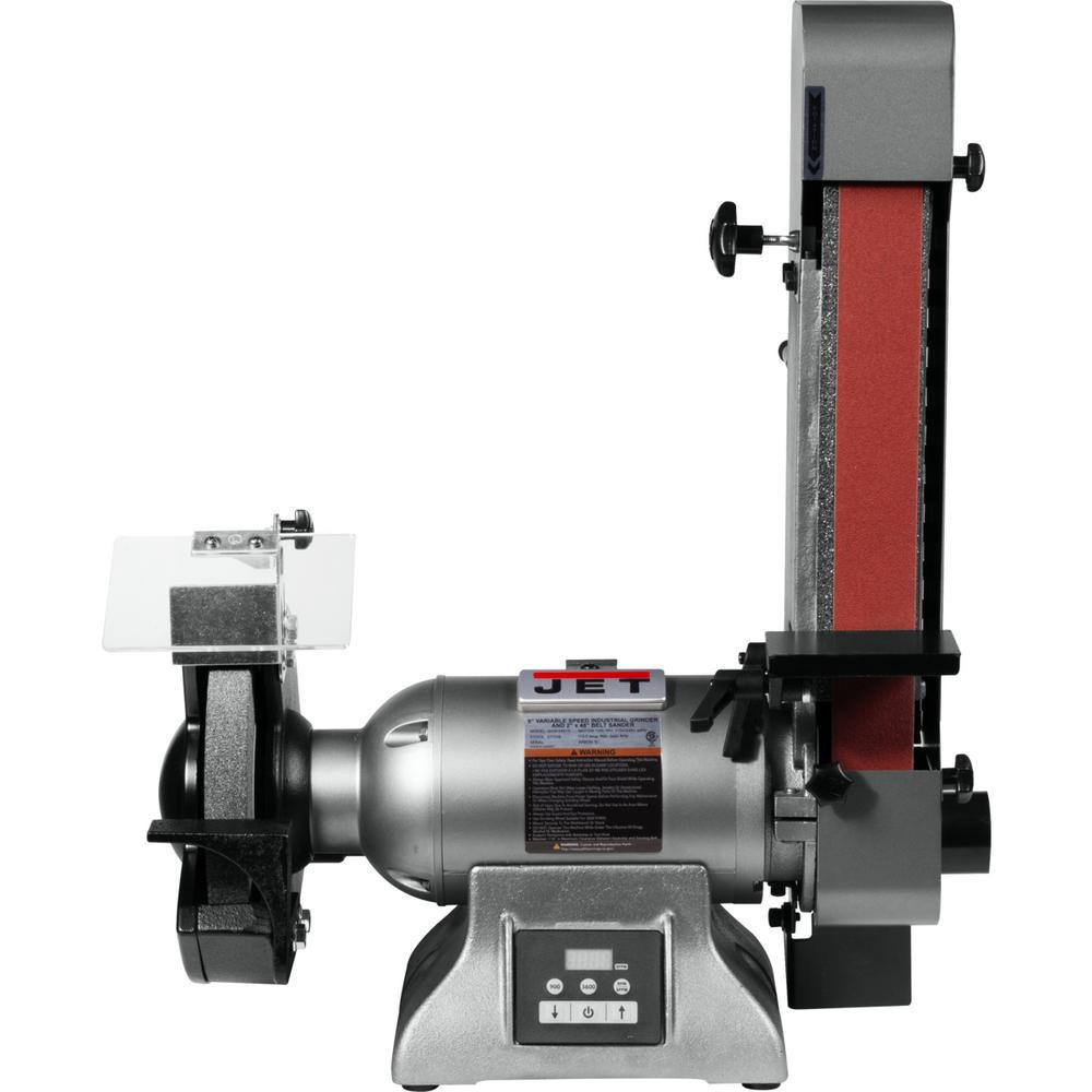 Jet Variable Speed Combination 8 inch Industrial Grinder and 2 inch x 48 inch Belt Sander 1HP 115-Volt, IBGB-248VS