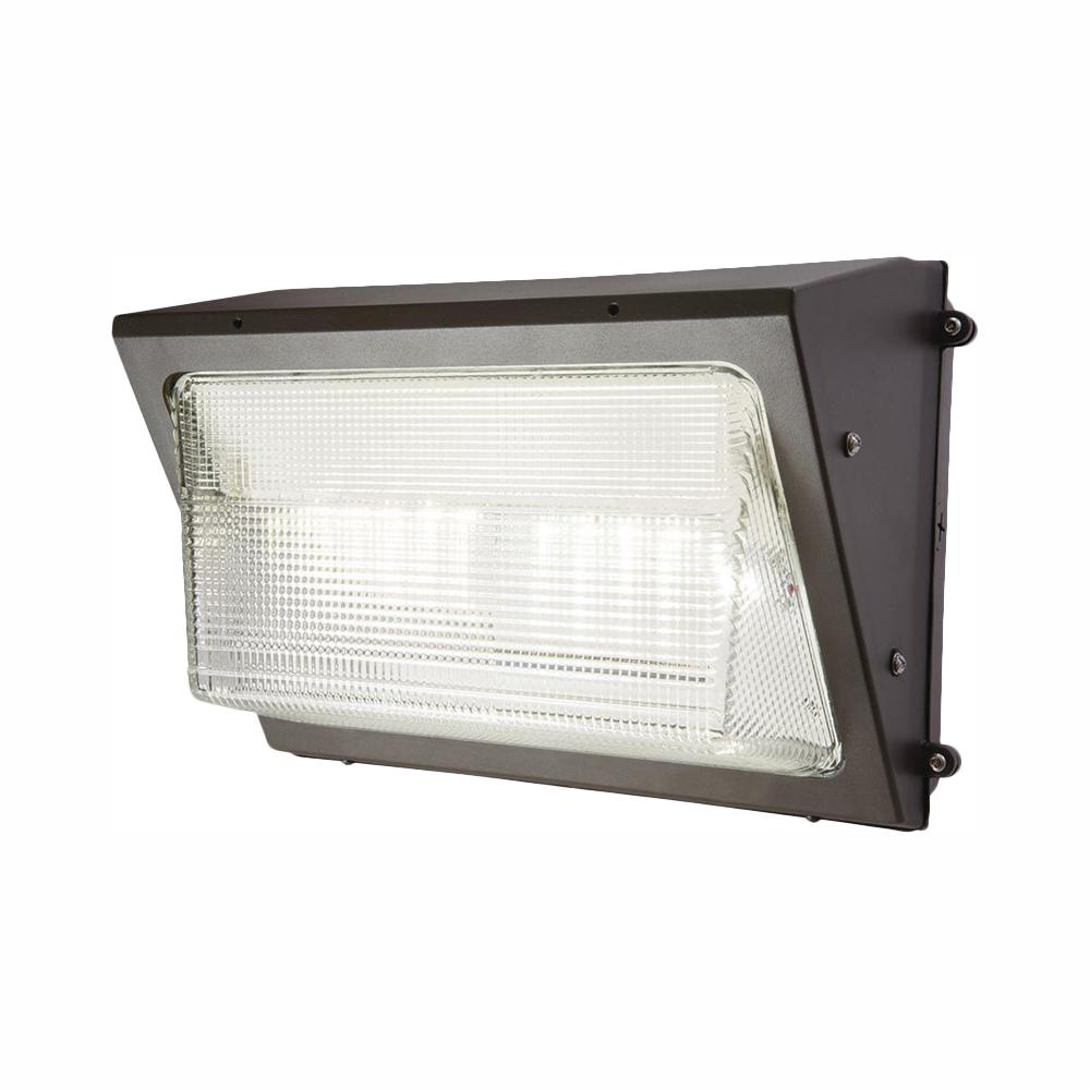 Bronze Outdoor Integrated LED Wall Pack and Area Security Light