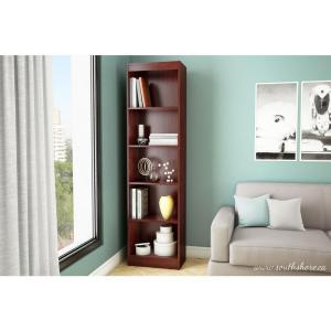 South Shore Axess 5 Shelf Bookcase In Royal Cherry 7246758   The Home Depot