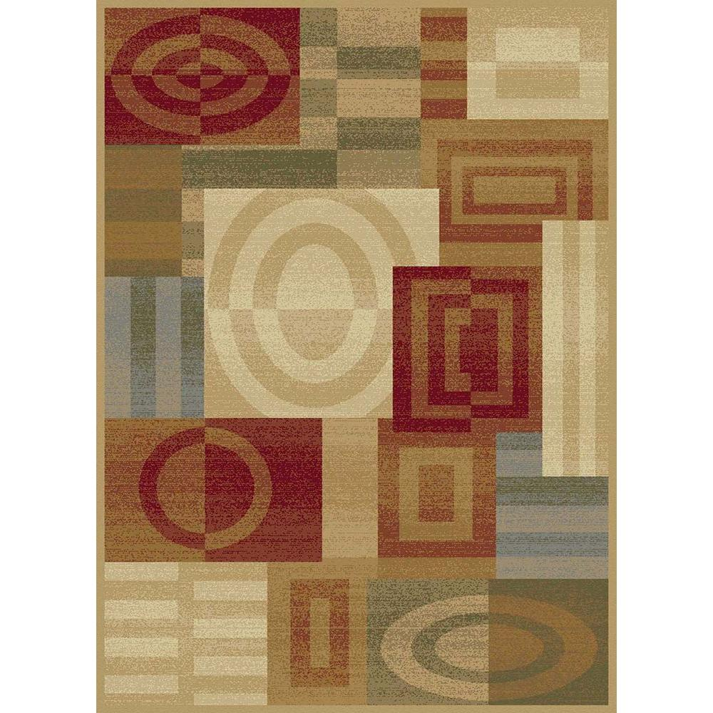Tayse Rugs Festival Beige 5 ft. 3 in. x 7 ft. 3 in. Contemporary Area Rug