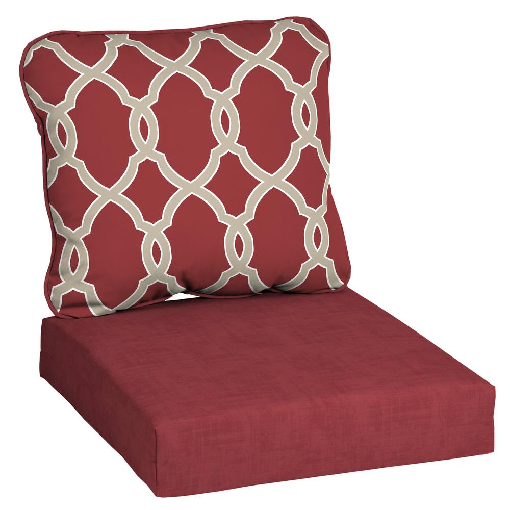 Fine Hampton Bay Jeanette Trellis Deep Seating Outdoor Lounge Chair Cushion Pdpeps Interior Chair Design Pdpepsorg