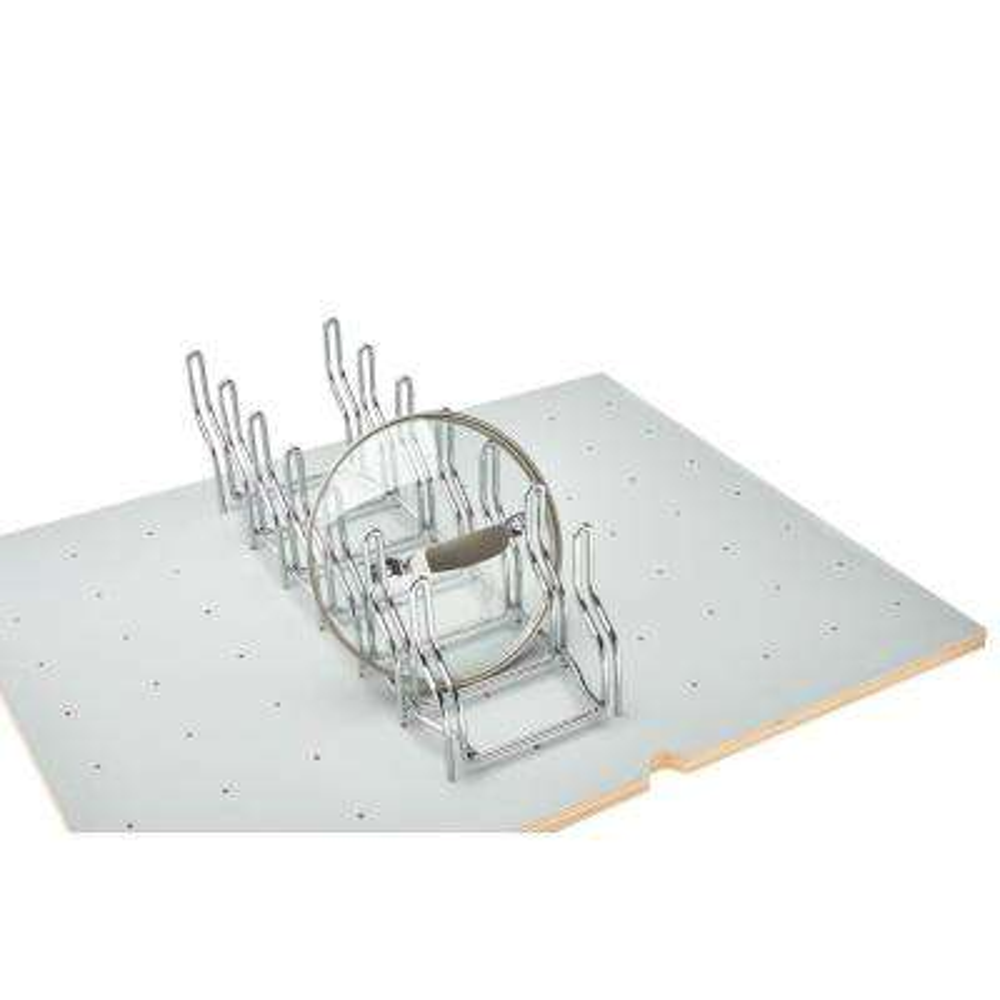 5.375 in. H x 5.25 in. W x 16.875 in. D Drop-in Lid Organizer for Drawer Peg Board System