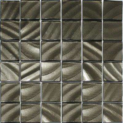 Valverde 2 x 2 3D Carbon 12 in. x 12 in. x 6mm Glass Mosaic Tile
