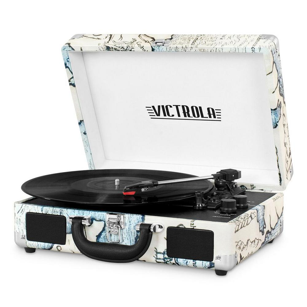 Victrola Bluetooth Suitcase Record Player With 3 Speed