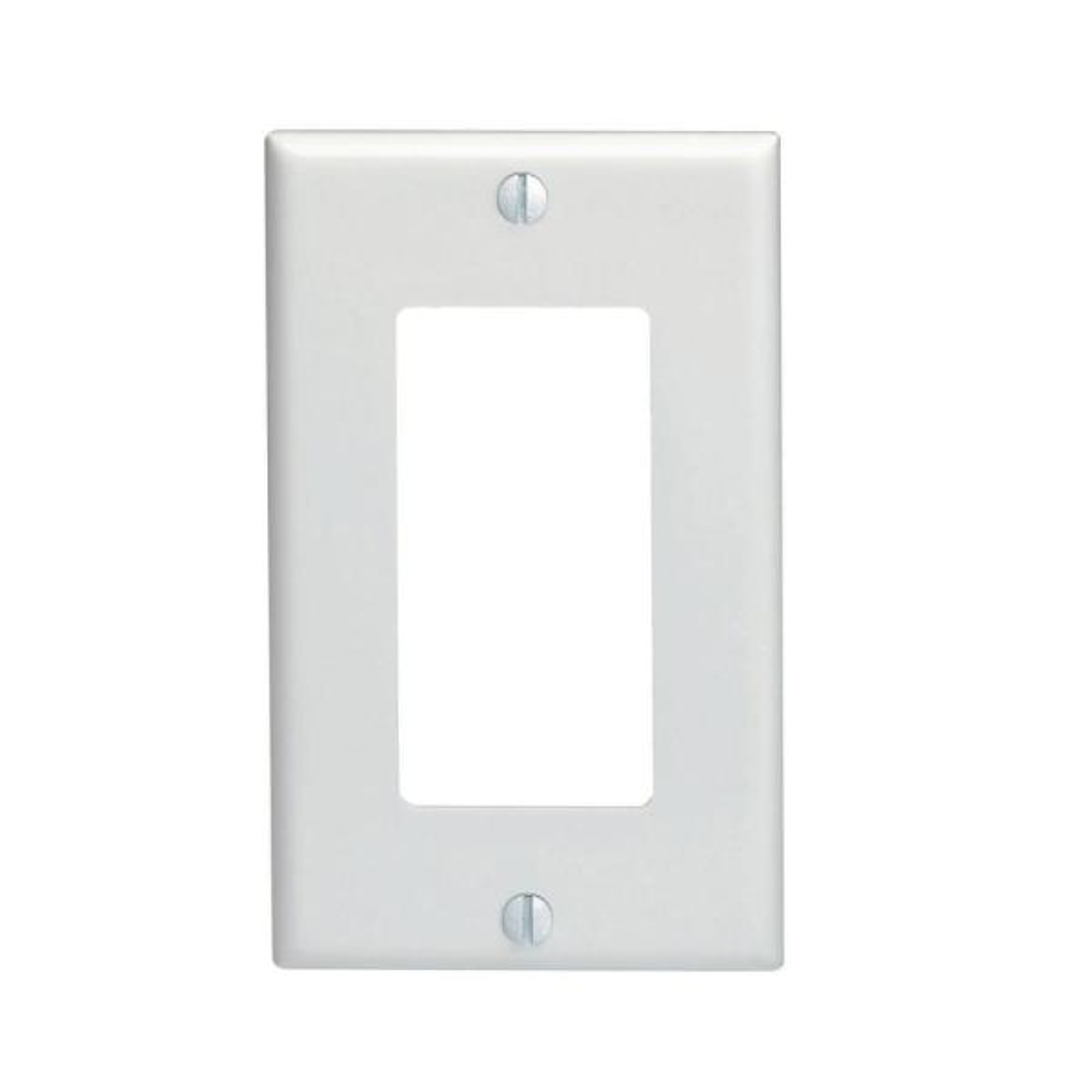 Decora 1-Gang Wall Plate, White