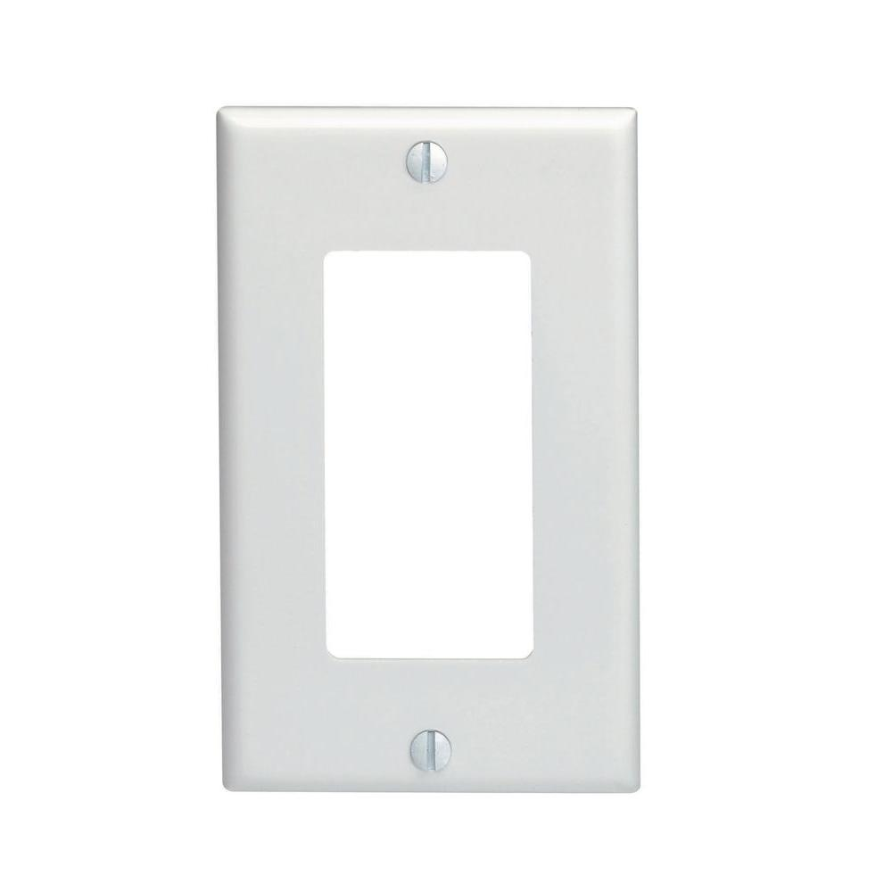 Plastic Switch Plate Covers Mesmerizing Leviton Decora 1Gang Wall Plate Whiter528040100W  The Home Depot Design Ideas