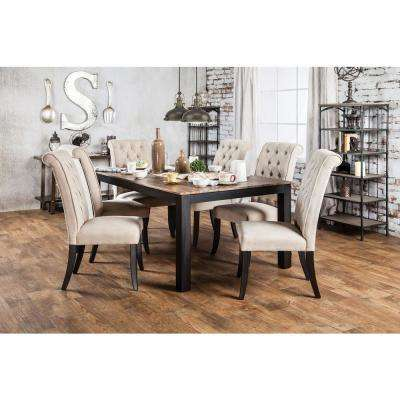 Marshall Rustic Oak Transitional Style Dining Table