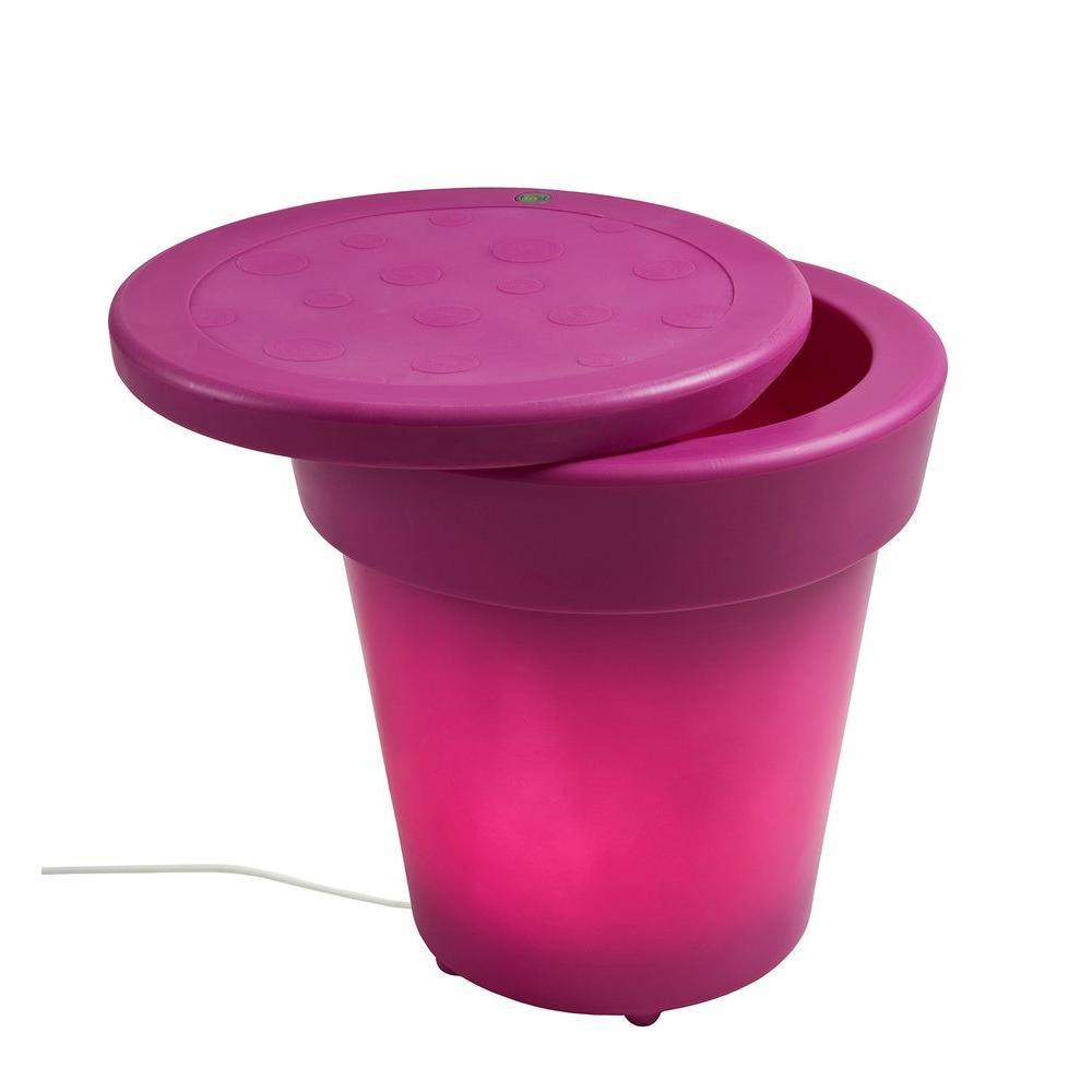 Twist Production 1-Light Outdoor Fuchsia Lighted Ice Bucket