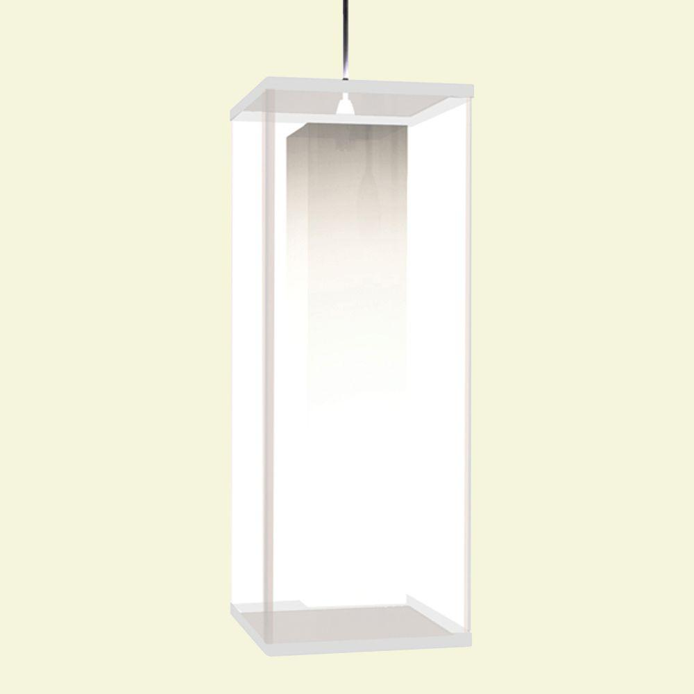 Aspects Multi-Family Solutions Lux 1-Light 96 in. Hanging White Shade-in-Shade Pendant