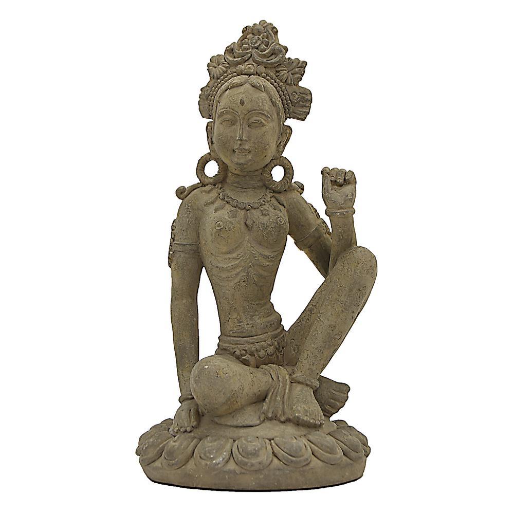6 in. x 6 in. Buddha Decoration in Gray