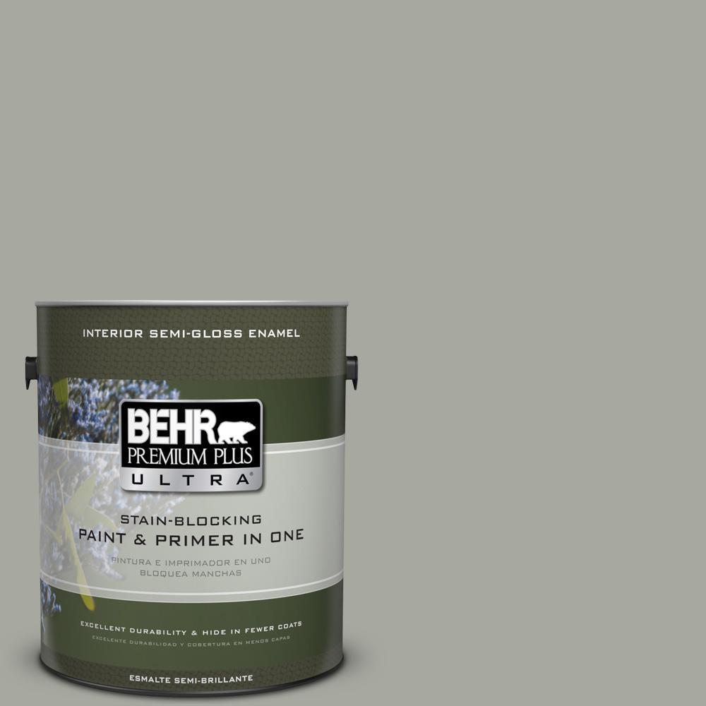 1 gal. #PPU25-05 Old Celadon Semi-Gloss Enamel Interior Paint