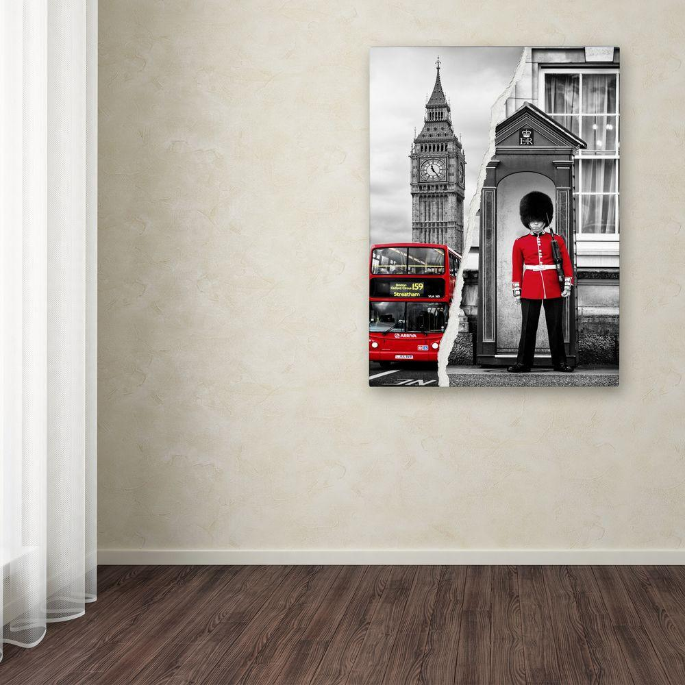 "32 in. x 24 in. ""Look at London"" by Philippe Hugonnard"