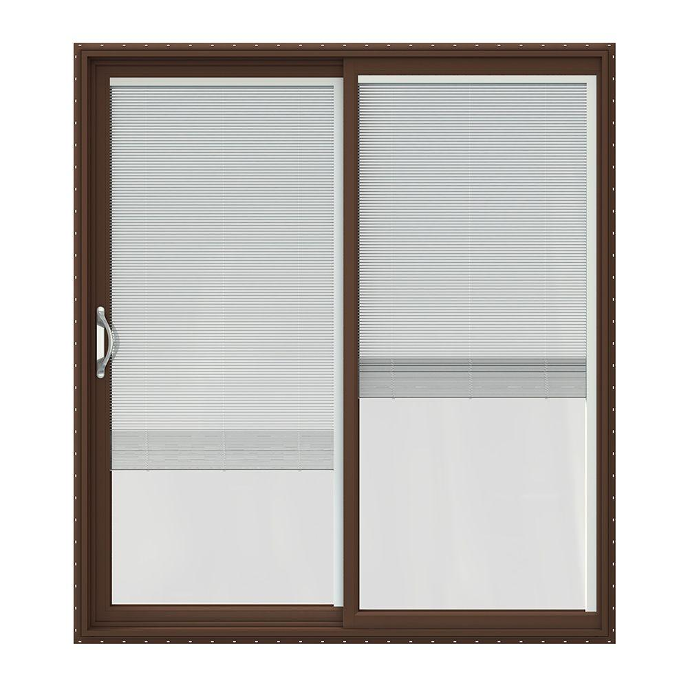 72 In. X 80 In. V 2500 Brown Painted Vinyl Left Hand