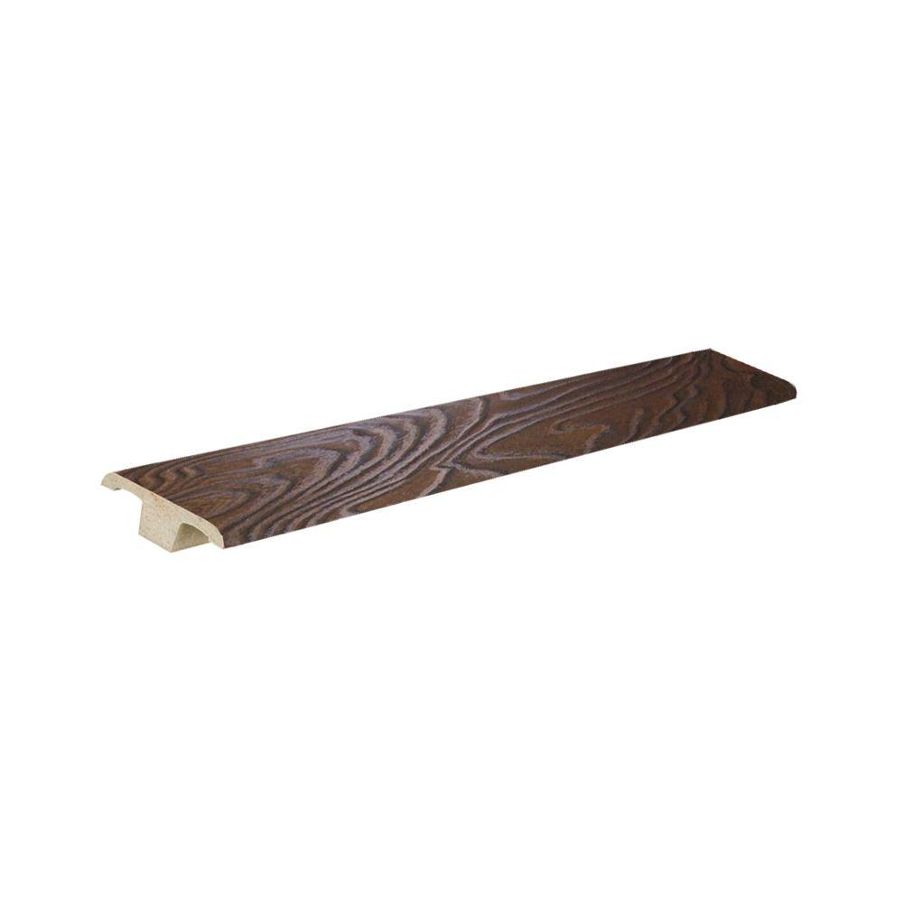 PID Floors Walnut Color 13 mm Thick x 1-5/8 in. Wide x 94 in. Length Laminate T-Molding