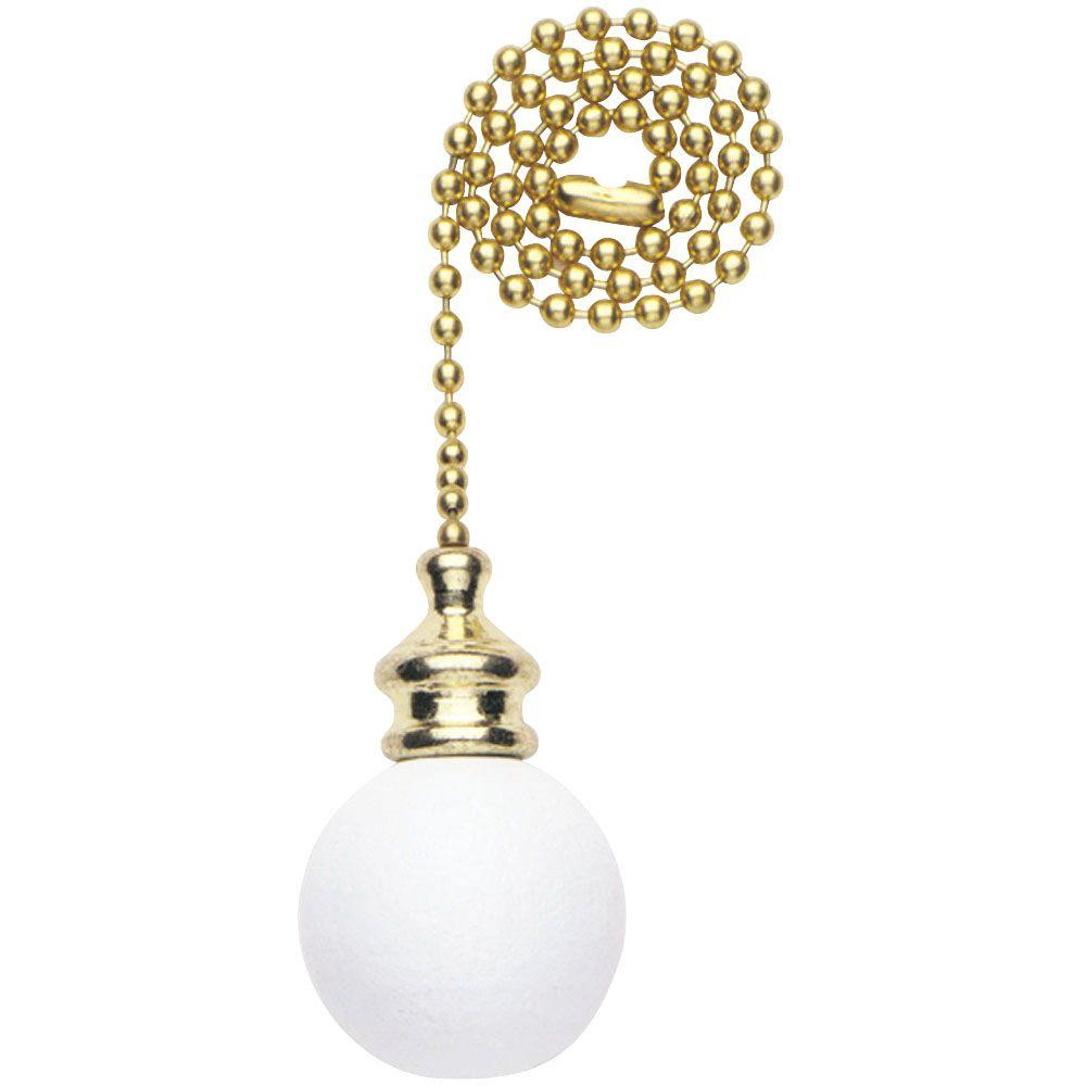 Westinghouse White Wooden Ball Pull Chain 7707200 The