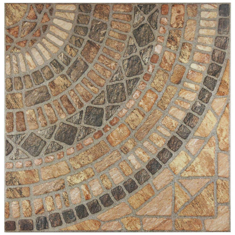 Terra Beige 17-3/4 in. x 17-3/4 in. Ceramic Floor and Wall Tile (21.85 sq. ft. / case)