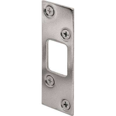 1-1/4 in. x 3-5/8 in. Nickel Plated Deadbolt Strike Plate