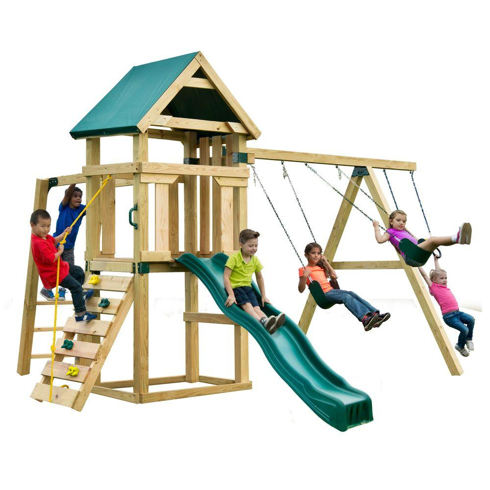 Swing-N-Slide Playsets Hawk\'s Nest Play Set-PB 9210 - The Home Depot