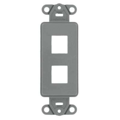 1-Gang Decora QuickPort 2-Port Insert in Gray