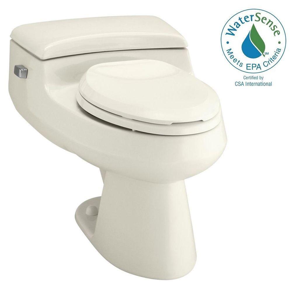 KOHLER San Raphael Comfort Height 1-piece 1 GPF Single Flush Elongated Toilet in Biscuit