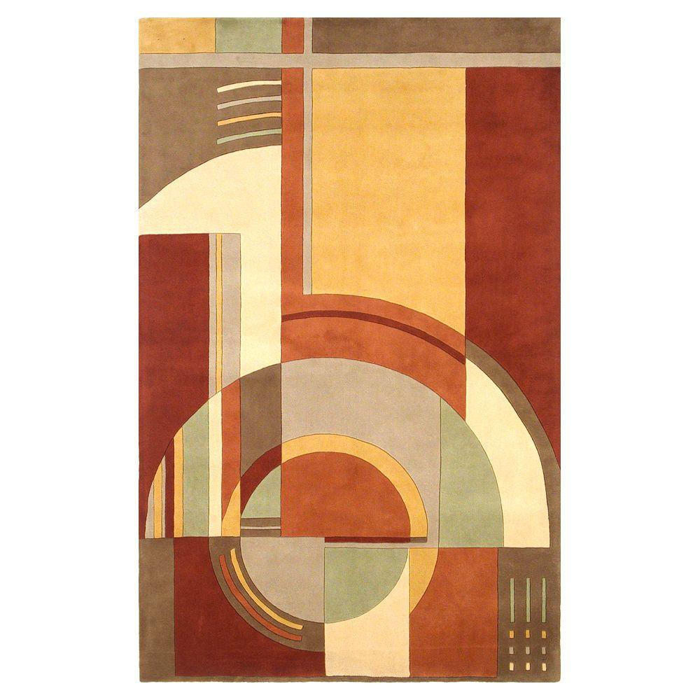 Kas Rugs Deco First Rust 5 ft. 3 in. x 8 ft. 3 in. Area Rug