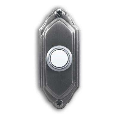 Wired Satin Nickel Push Button With Lighted Center