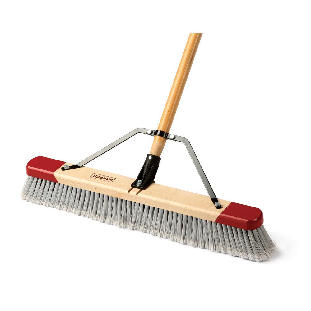 Harper 24 In Easy To Assemble Indoor Push Broom 2224p1