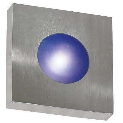 Burst 1-Light Polished Aluminum Small Square Sconce