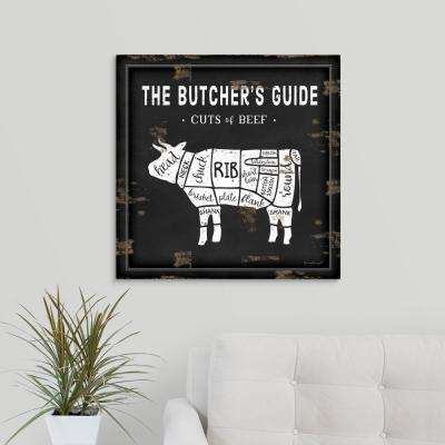 """Butcher's Guide Cow"" by Jennifer Pugh Canvas Wall Art"