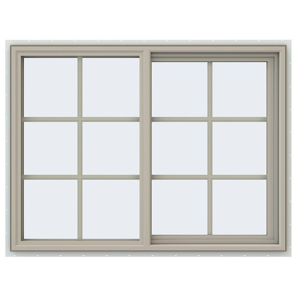 47.5 in. x 35.5 in. V-4500 Series Right-Hand Sliding Vinyl Window