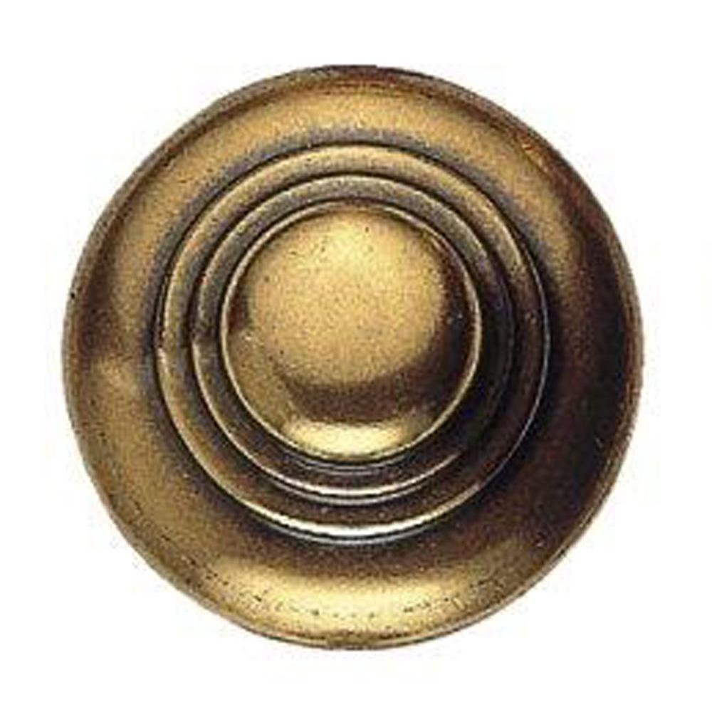 1600 Circa 1.18 in. Antique Brass Dark Round Knob