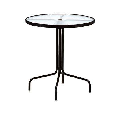 36 in. Black Acrylic Top Commercial Patio Bar Table