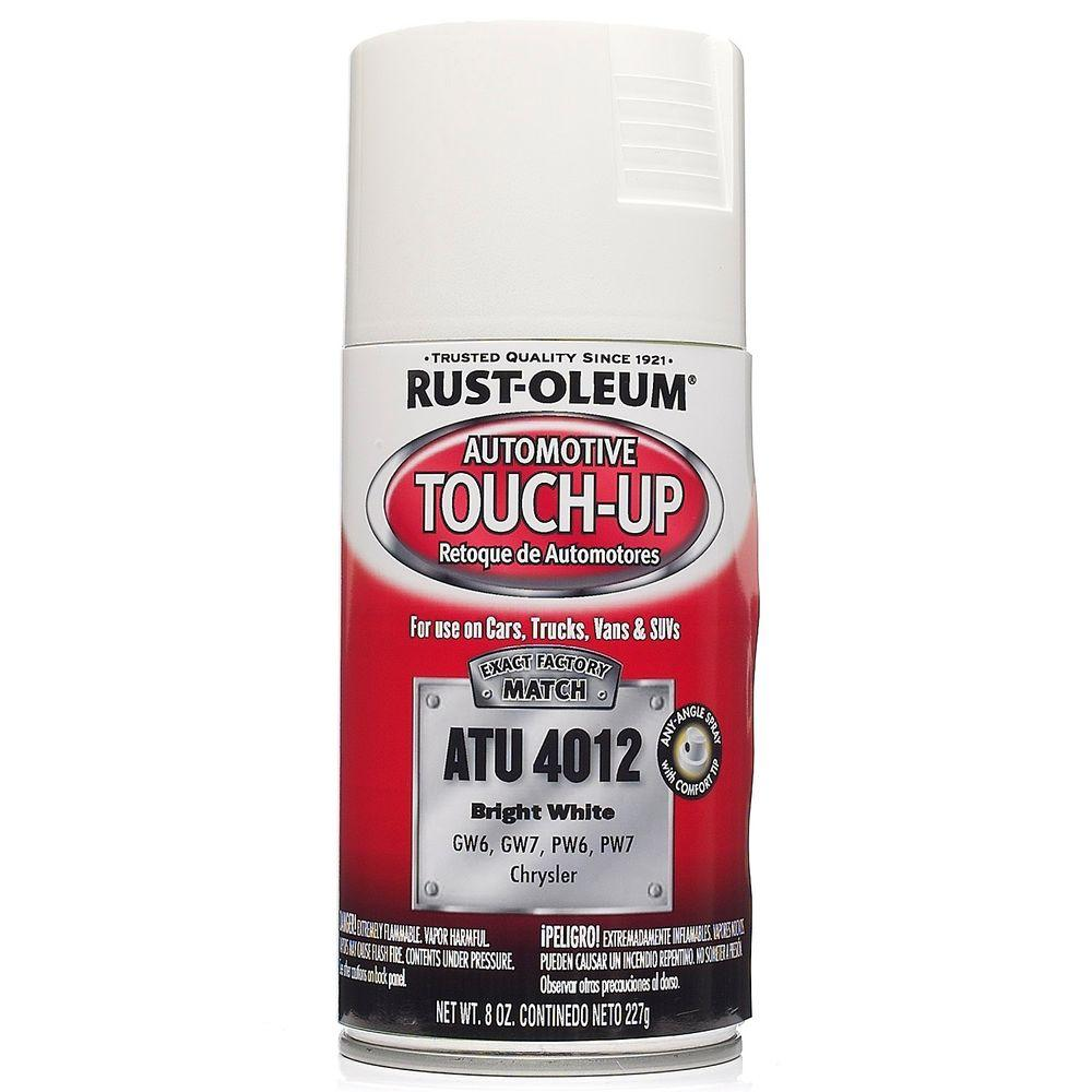 Rust Oleum Automotive 8 Oz Bright White Auto Touch Up Spray 6 Pack Atu4012 The Home Depot