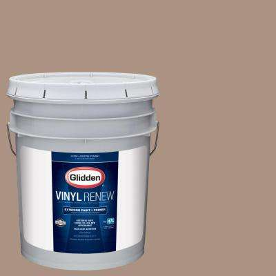5 gal. #HDGWN01D Woodruff Beige Low-Lustre Exterior Paint with Primer