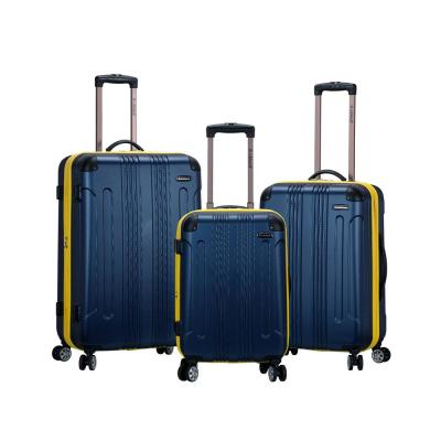 Rockland Sonic 3-Piece Hardside Spinner Luggage Set, Navy