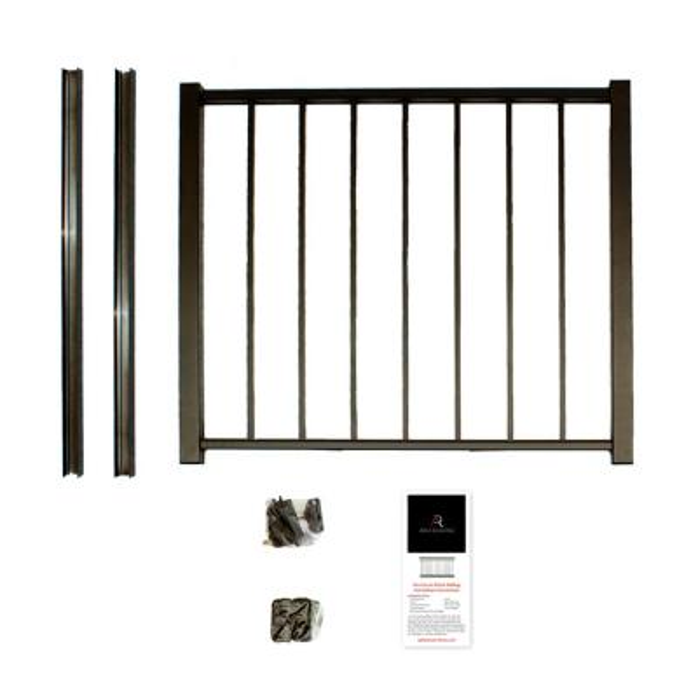 Bronze Powder Coated Aluminum Preassembled Deck Gate Kit