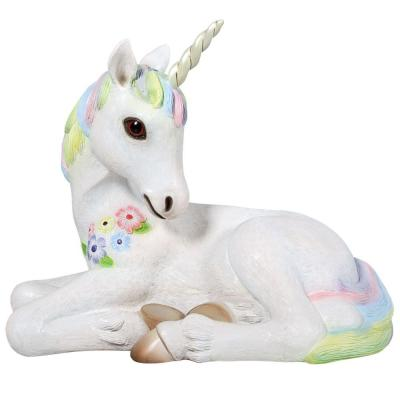 20 in. H Sparkle the Mystical Magical Resting Unicorn Statue