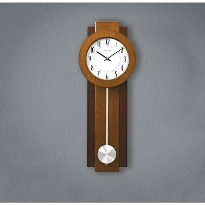 23.5 in. x 8.75 in. Pendulum Wall Clock