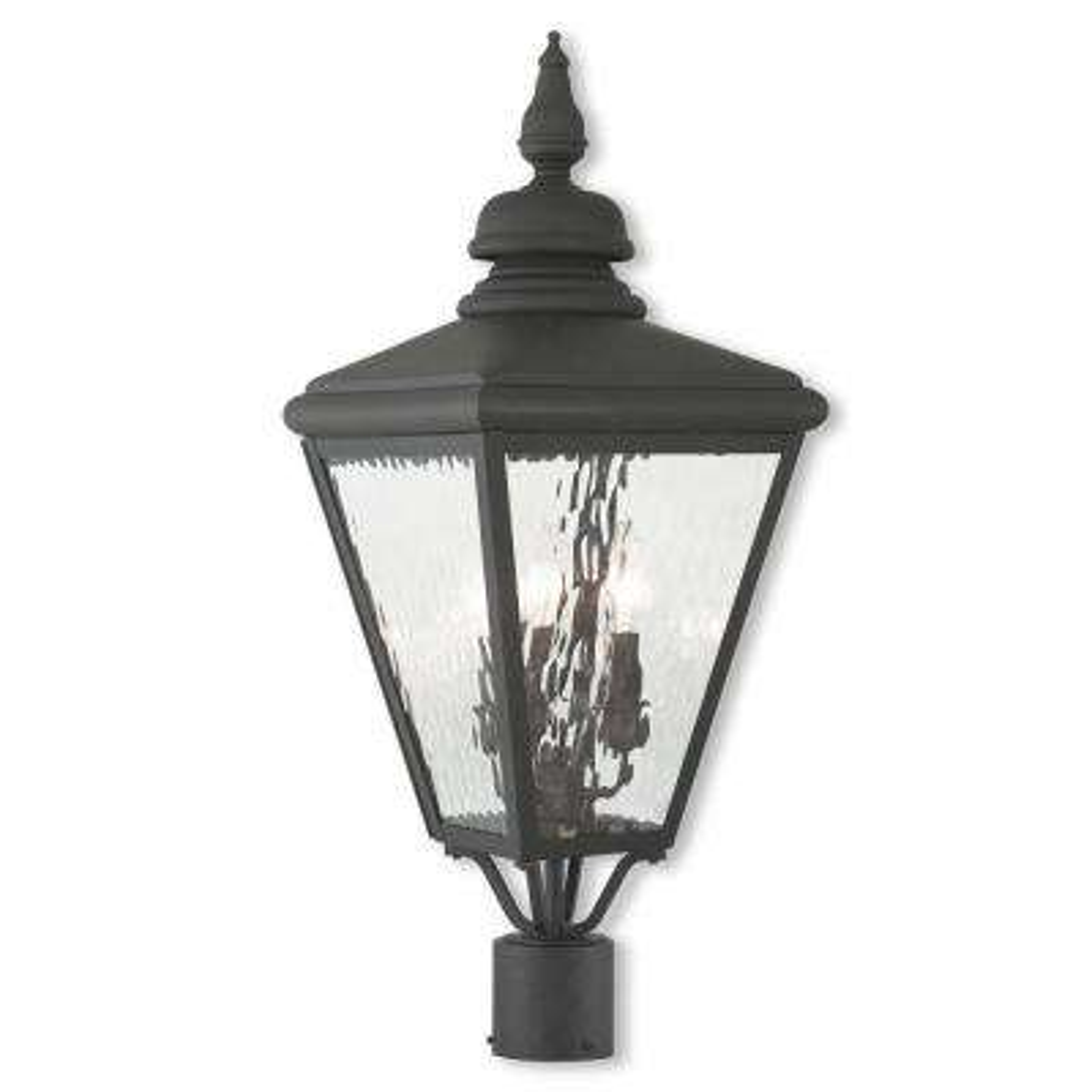 Cambridge 3-Light Outdoor Black Post Light
