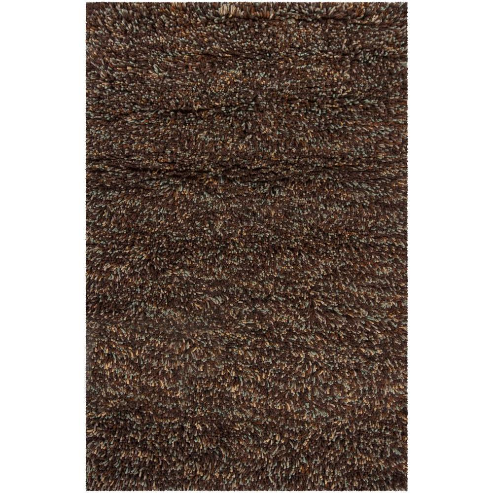 Chandra Porta Taupe Chocolate Brown Blue 8 Ft X 11