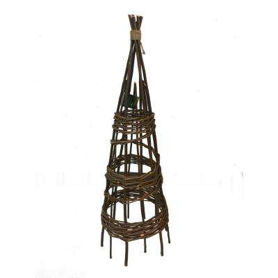 48 in. H Willow Round Teepee Trellis