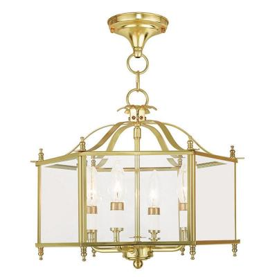 Livingston 4-Light Polished Brass Pendant